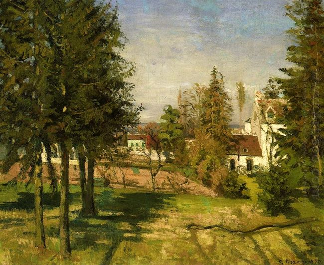 the pine trees of louveciennes 1870