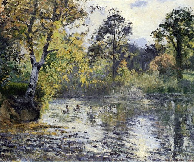 the pond at montfoucault 1874