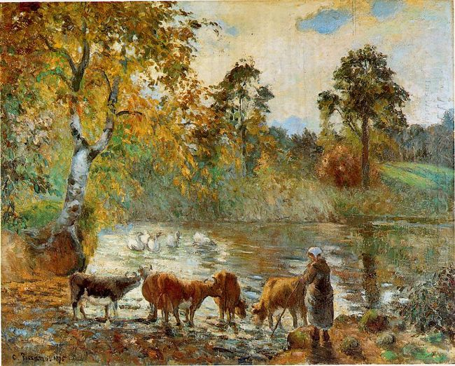 the pond at montfoucault 1875