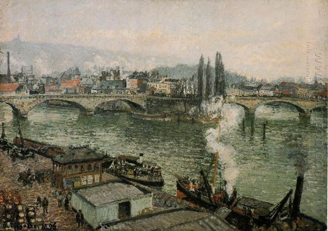 the pont corneille rouen grey weather 1896