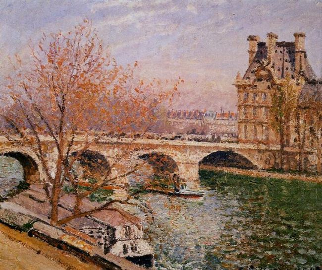 the pont royal and the pavillion de flore 1903
