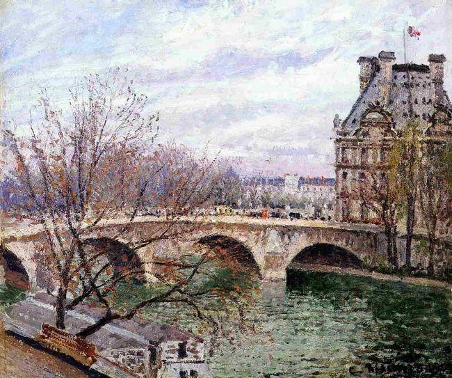 the pont royal and the pavillon de flore 1903
