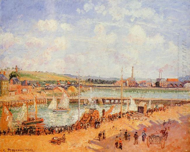 the port of dieppe the dunquesne and berrigny basins high tide s