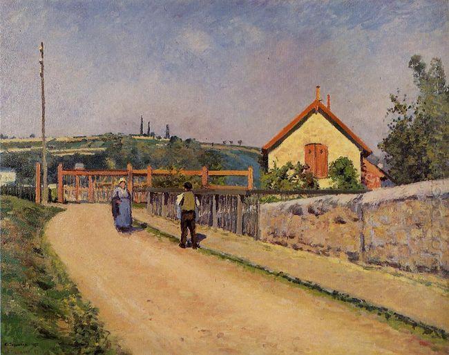 the railroad crossing at les patis