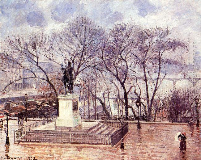 the raised terrace of the pont neuf place henri iv afternoon rai
