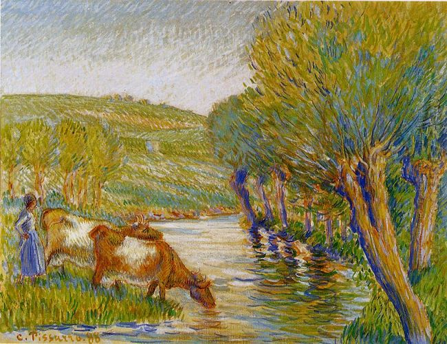 the river and willows eragny 1888