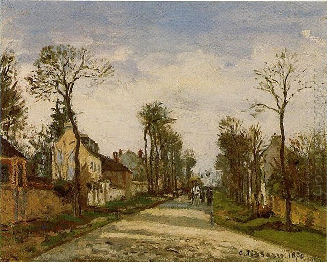 the road to versailles at louveciennes 1870
