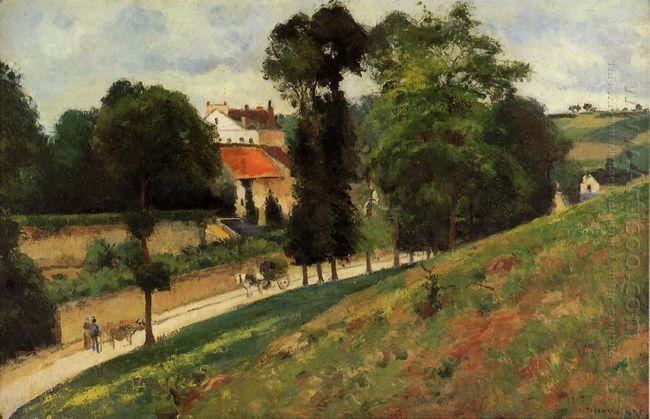 the saint antoine road at l hermitage pontoise 1875