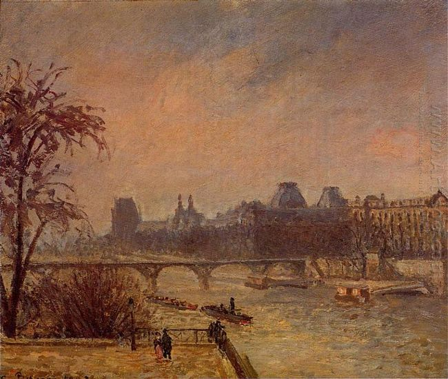 the seine and the louvre paris 1903