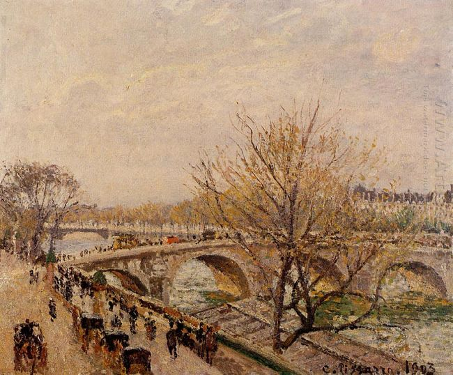 the seine at paris pont royal 1903
