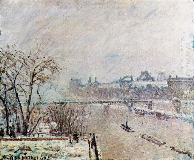 the seine viewed from the pont neuf winter 1902