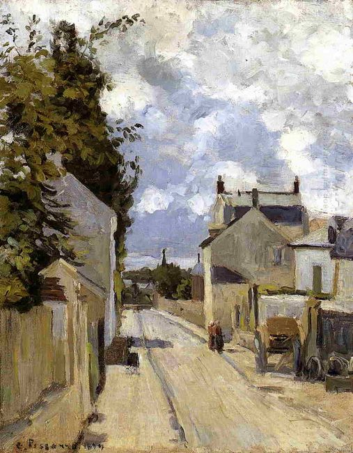the street of hermitage pontoise 1874