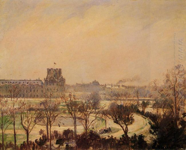 the tuileries gardens snow effect 1900