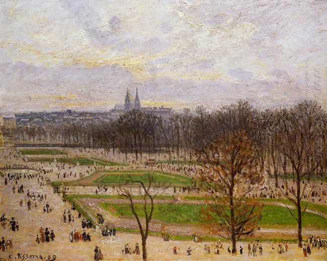 the tuilleries gardens winter afternoon 1899