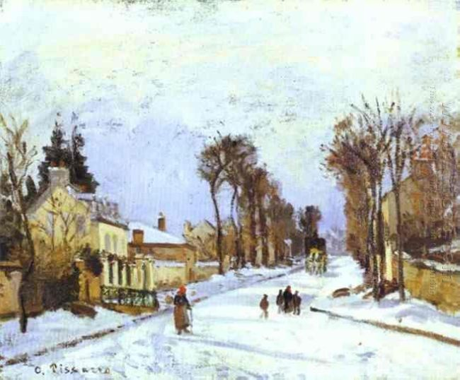 the versailles road at louveciennes 1869