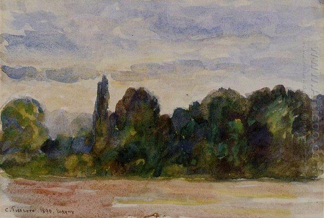 trees eragny 1890