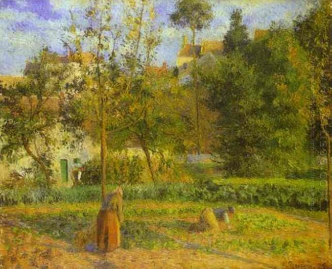 vegetable garden at hermitage near pontoise 1879