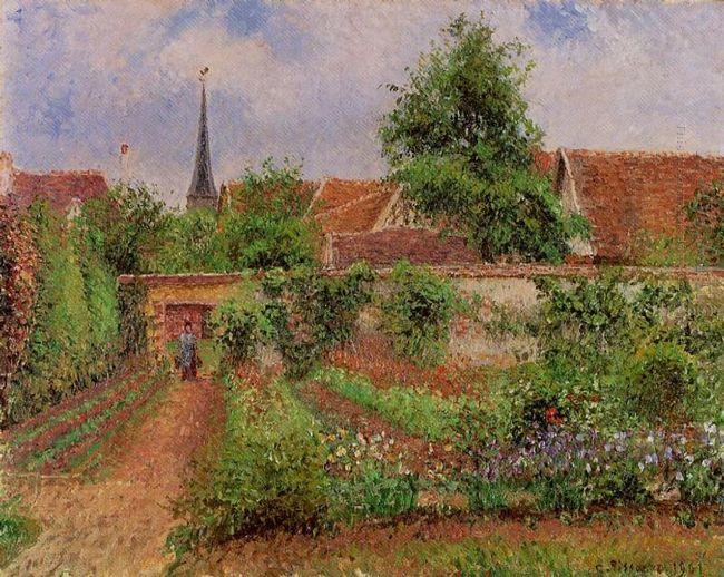 vegetable garden in eragny overcast sky morning 1901