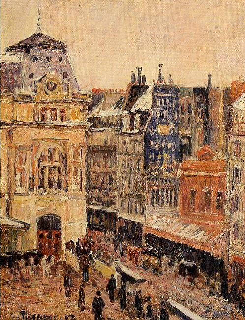 view of paris rue d amsterdam 1897