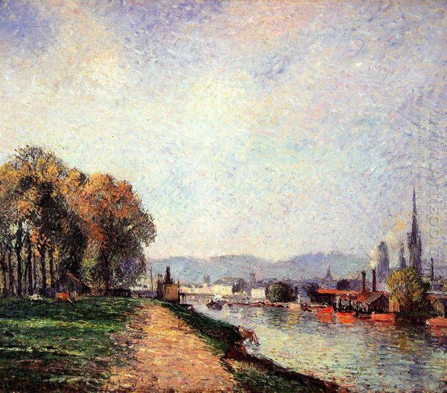 view of rouen 1883