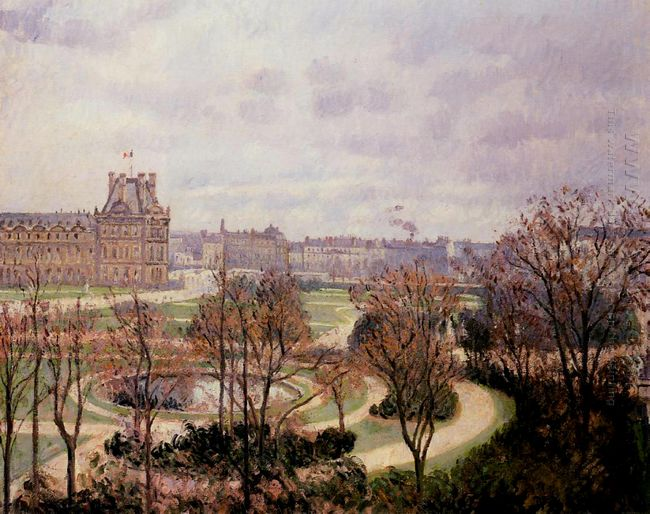 view of the tuileries morning 1900