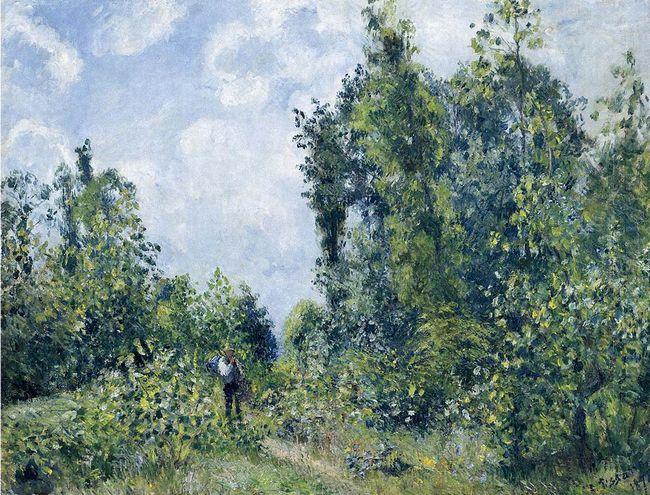 wanderer near the wood 1887