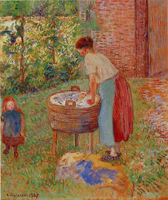 washerwoman eragny 1887