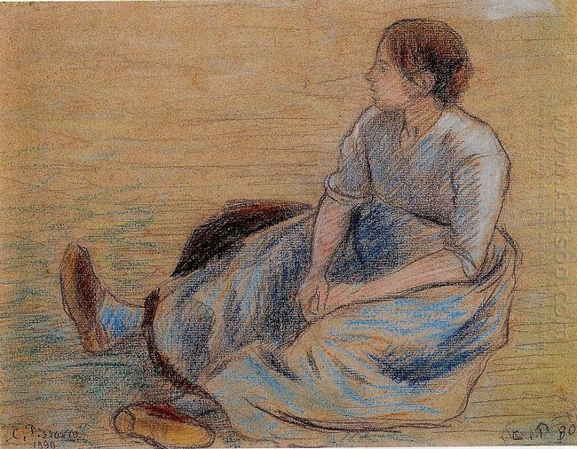 woman sitting on the floor 1890