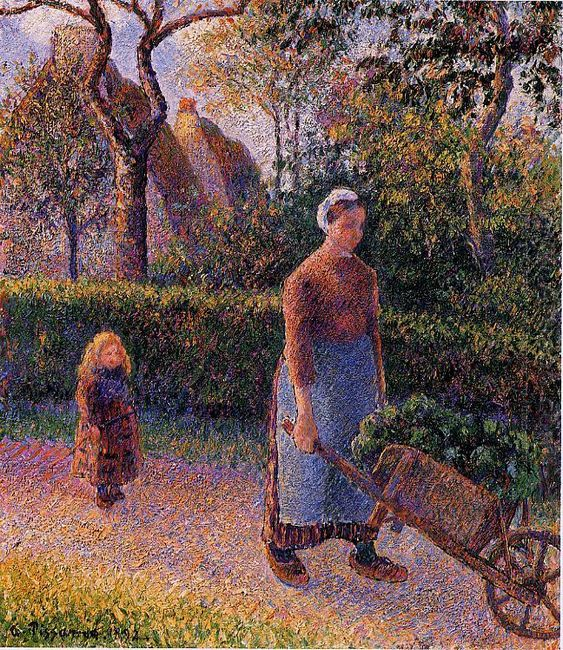 woman with a wheelbarrow