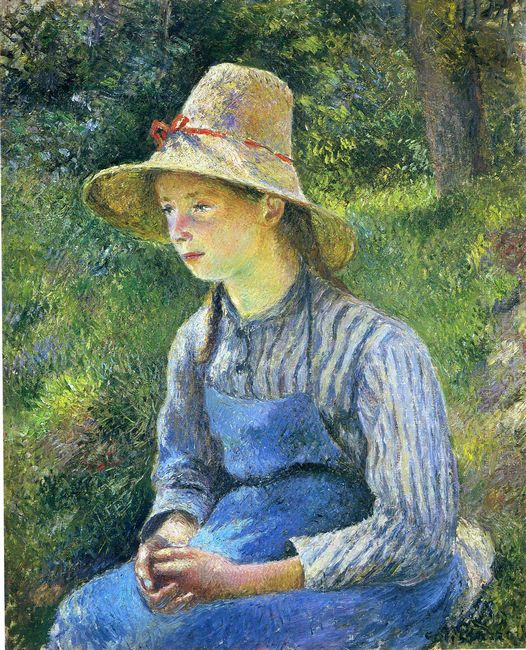 young peasant girl wearing a hat 1881