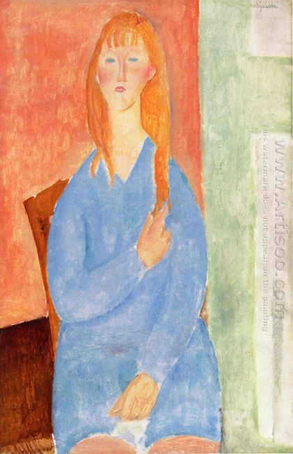 girl in blue 1919
