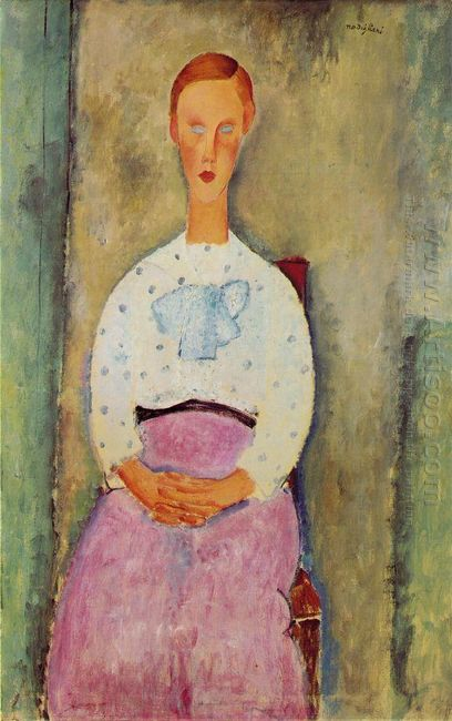 girl with a polka dot blouse 1919