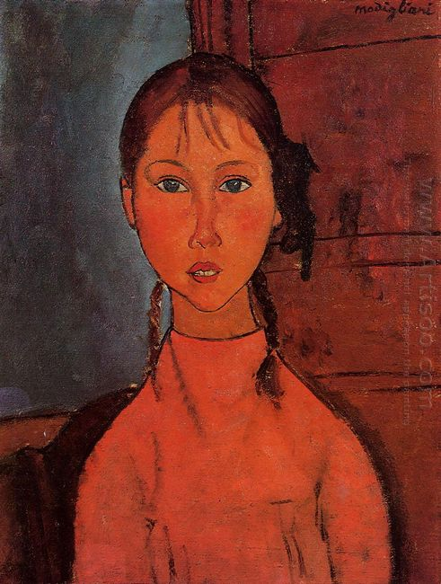 girl with pigtails 1918