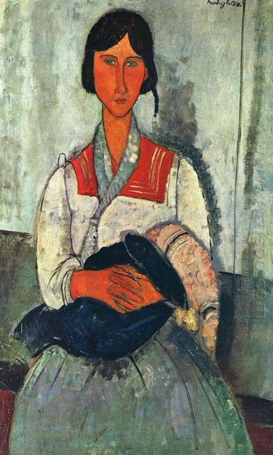 gypsy woman with a baby 1919