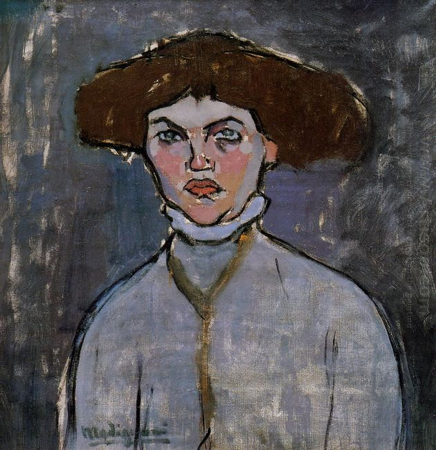 head of a young woman 1908 1