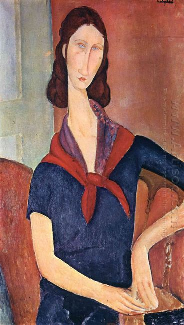 jeanne hebuterne with a scarf 1919