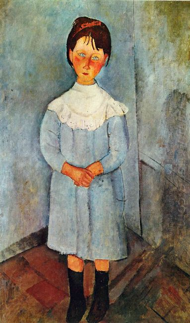 little girl in blue 1918