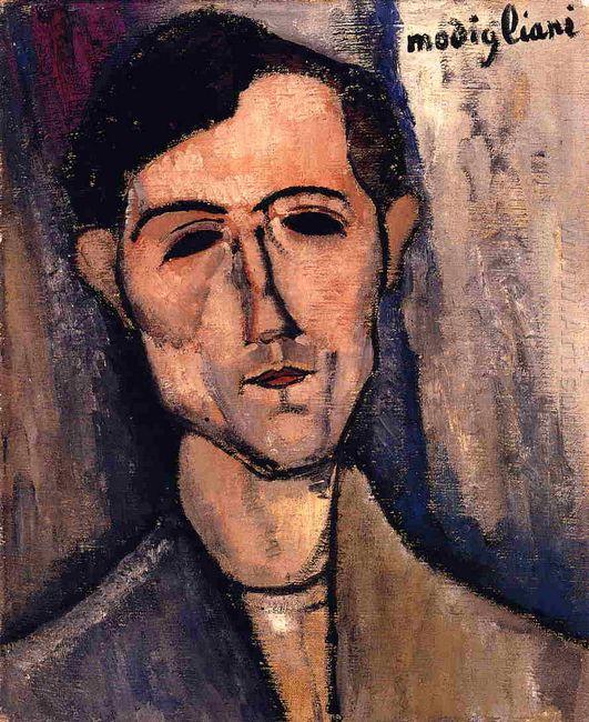 man s head portrait of a poet