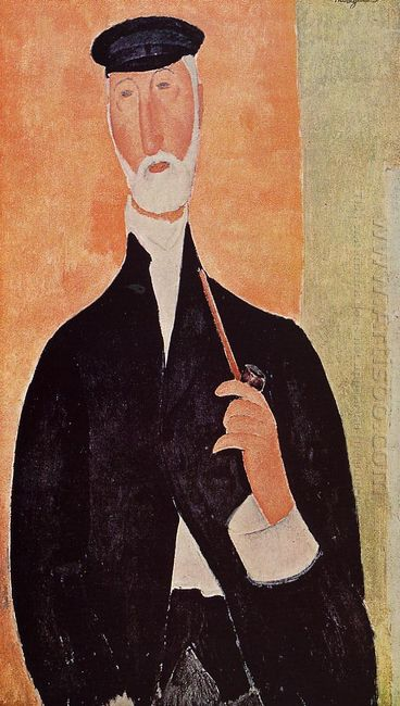 man with a pipe the notary of nice 1918