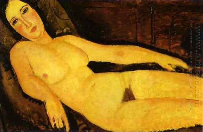 nude on sofa 1918