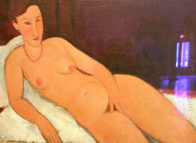 nude with coral necklace 1917