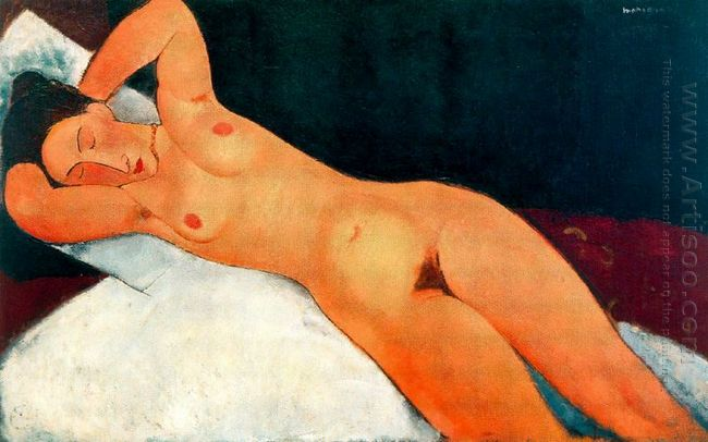 nude with necklace 1917