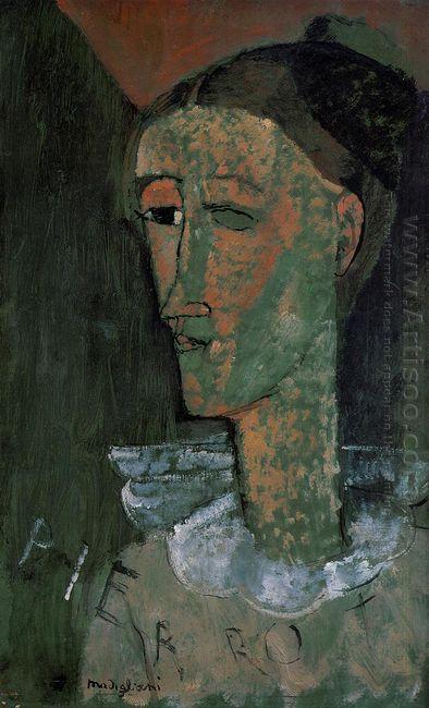 pierrot self portrait as pierrot 1915