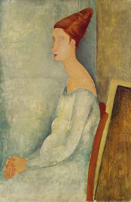 portrait of jeanne hebuterne 1918 2