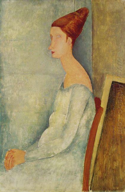 portrait of jeanne hebuterne 1918 2