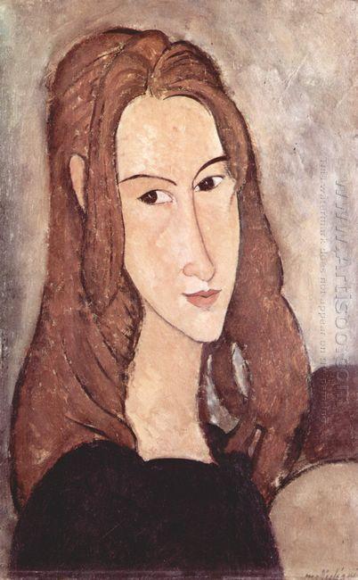 portrait of jeanne hebuterne 1918 3