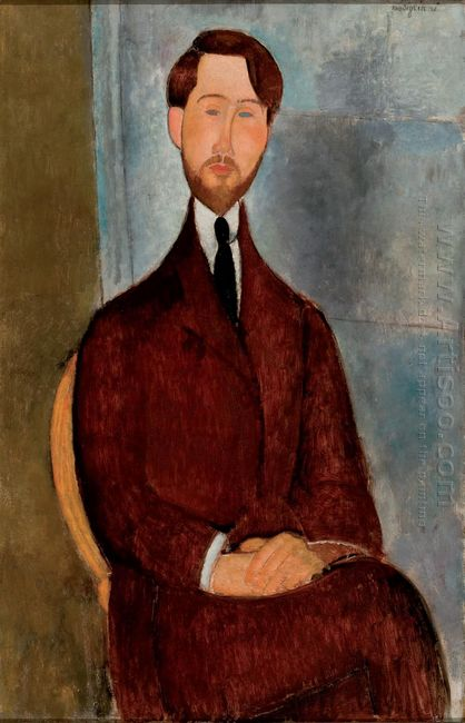 portrait of leopold zborowski 1917