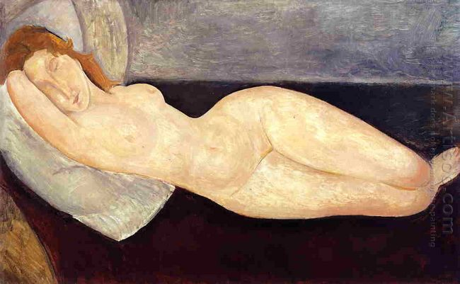 reclining nude with head resting on right arm 1919