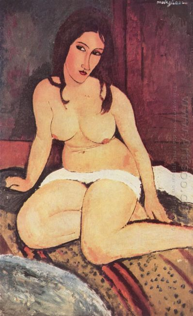 seated nude 1917 2