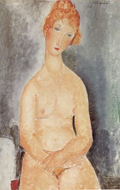 seated nude 1918